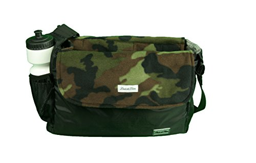 Louie de Coton Made in USA Small Dog Soft Sling Carrier Bag with Removable Fleece Blanket/Liner (Green Camo)