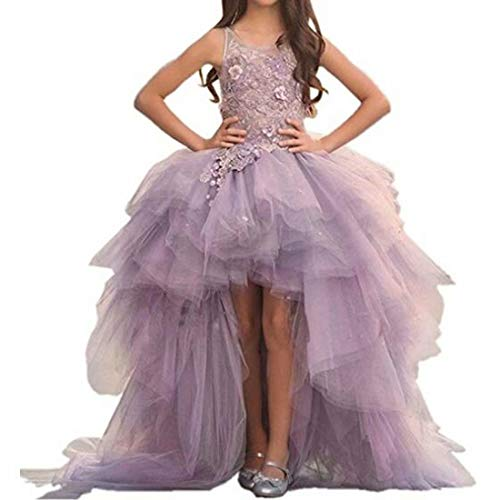 Angel Dress Shop Ivory Pink Off-Shoulder Sleeveless Sweep Train Holiday Gown for Teens with Applique -