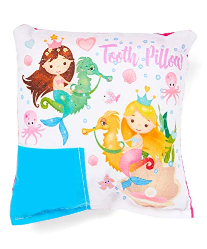 (Mermaid and Seahorse Tooth Fairy Pillow with Tooth Fairy Dust)