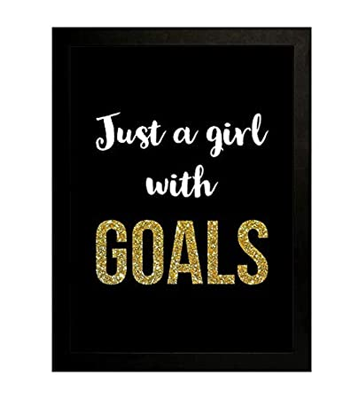Interio Crafts Goals Motivational Quotes Frames For Office And Home Wall Decor Frame Size 13 X9 5 Inches Poster Size 12 X8 Inches Amazon In Home Kitchen