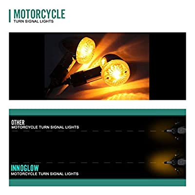 INNOGLOW Motorcycle Turn Signals Lights Bullet Blinkers Indicators Amber Light Universal 2Pcs 12V for Harley Honda Yamaha Suzuki: Automotive