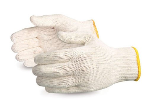 300 Pairs String Knit White Poly Cotton Work Gloves -Made in Korea