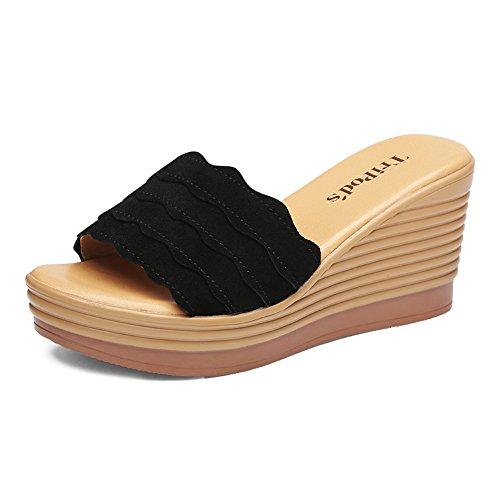 de grueso desgaste verano tacón 5 Tamaño Moda UK5 2 CN38 2 Sandalias de bajo Color abajo Slipper femenino exterior EU38 Zapatillas Yw0EpxnqBv