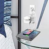 Power Strip with USB, TESSAN Mountable Flat Plug