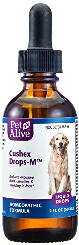 PetAlive Cushex Drops Medicine, 2 Fluid Ounce (Natural Remedies For Cushings Disease In Dogs)