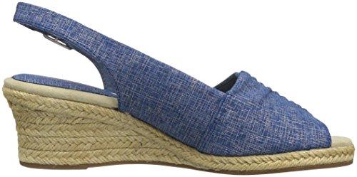 Blå Street Ber Print Espadrille Kvinner Enkle Sandal Metallic Kile 6FwYY7