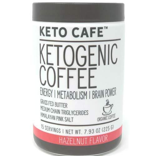 Keto Cafe Ketogenic Coffee| Energy|Metabolism|Brain Power! Hazelnut Flavor 7.93oz.