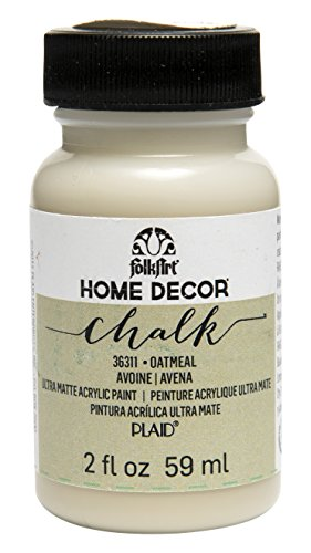 FolkArt Home Decor Chalk Furniture & Craft Paint in Assorted Colors (2 oz), 36311 (Ivory Chalk)