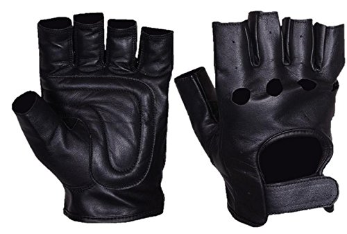 (MOTORYCLE LEATHER FINGERLESS/HALF FINGER GLOVES)