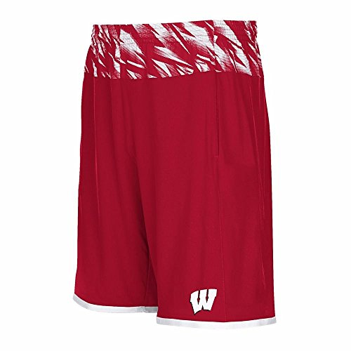 adidas Wisconsin Badgers NCAA Men's Red Players Sideline Performance Shorts (S)