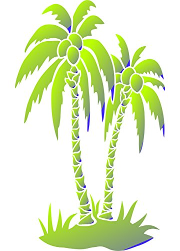 Palm Trees Stencil - (size 6.5