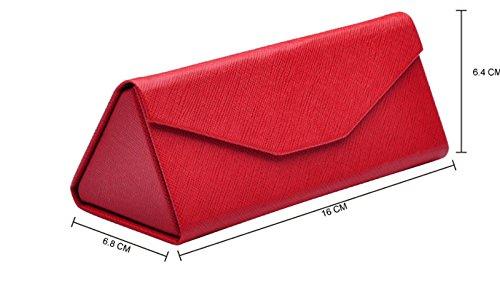 Demarkt Gafas de Almacenamiento y dise/ño Tri/ángulo de Caja de vidrios Plegable(Negro)