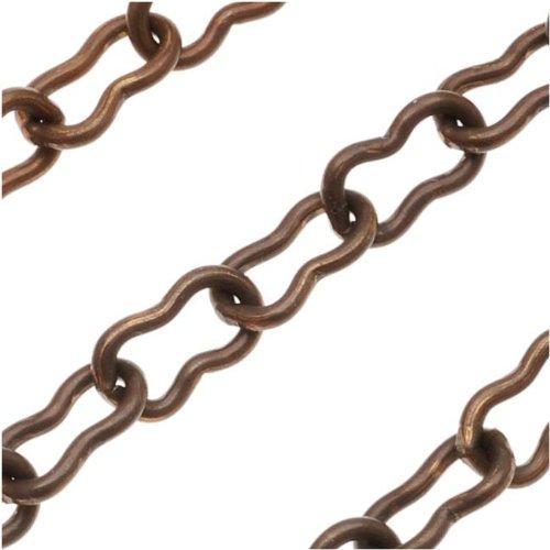 Vintaj Natural Brass Chain 7.5mm X 4mm Ornate 8 Links - Bulk By The Foot