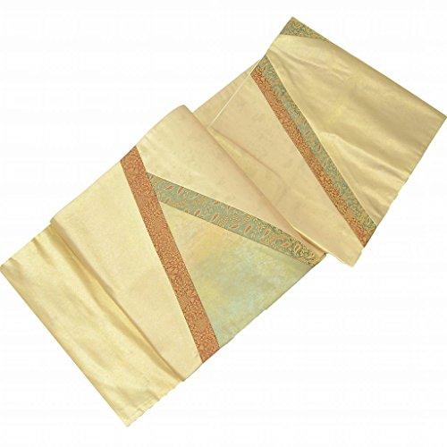 追加伝染病アンタゴニスト袋帯 リサイクル 中古 正絹 結婚式 ふくろおび 錦織 ペイズリー文様 金系 切りばみ ll0860b