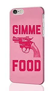 Gimme Food Pattern Image - Protective 3d Rough Case Cover - Hard Plastic 3D Case - For Case Cover For Apple Iphone 4/4S
