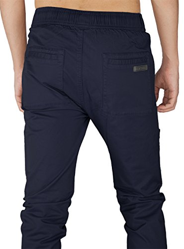 Twill Fit Uomo Cotone The Cargo Awoken Chino Scuro Slim Casual Pantaloni Blu xFxYHw