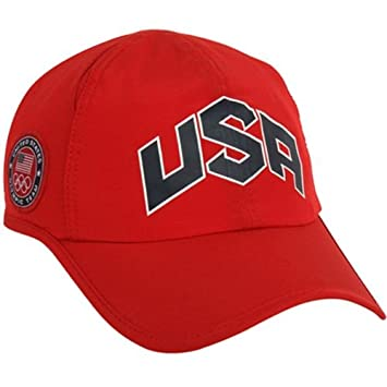 1bc7a2b2 Nike 2012 USA Olympic Team Red Men's Training Runner Featherlight DRI-FIT  Hat: Amazon.co.uk: Sports & Outdoors