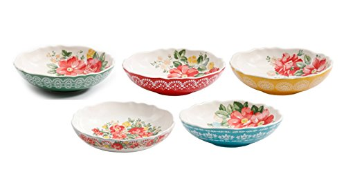 The Pioneer Woman Porcelain Round Vintage Floral 5-Piece Pas