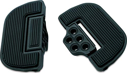 (Kuryakyn 4357 Motorcycle Foot Control Component: Ribbed Folding Boards for Driver or Passenger Floorboards, Wrinkle Black, 1 Pair)