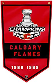 Calgary Flames Flag 3x5Ft /1989 NHL Grommets Indoor House Banner 3'x5' Stanley Cup Champions Fa