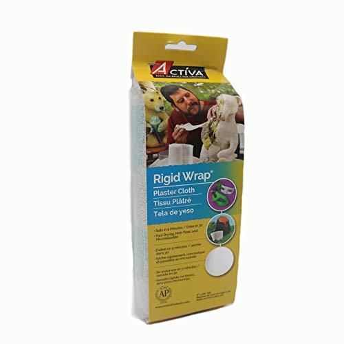 ACTIVA Rigid Wrap Plaster Cloth, 8 X 180 inches