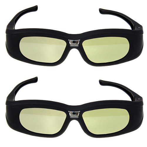 SHARPTECK Black New 3D active DLP Link Glasses for Optama, Acer, BenQ, NEC, ViewSonic, Sharp, Dell