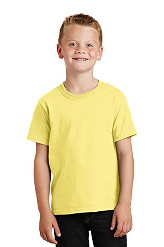 Port & Company Youth Core Solid Short Sleeve Cotton Tee, M, Yellow