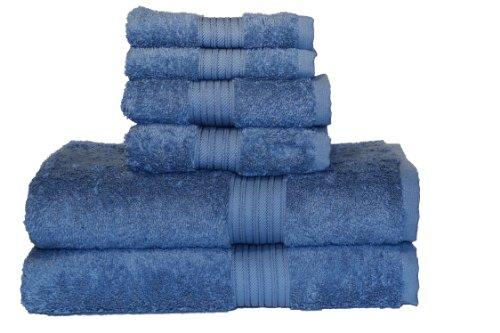 (Baltic Linen Majestic 6-Piece Heavy Weight Cotton Towel Set, Serenity)