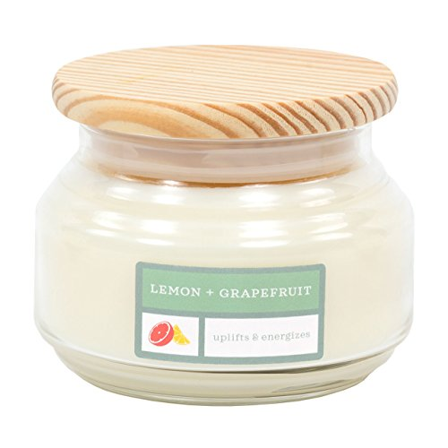 David Oreck Candle Company Essential Infusions Soy Aromatherapy Candles, Lemon + Grapefruit, 10 oz, 60 Hour Burn time ()