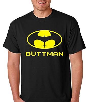 Raw T-Shirt's Buttman Funny Batman Parody Premium Men's T-Shirt