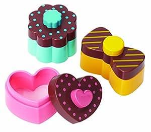Torune Bento Sweet and Heart Sandwich Cutter Mold, Multicolor