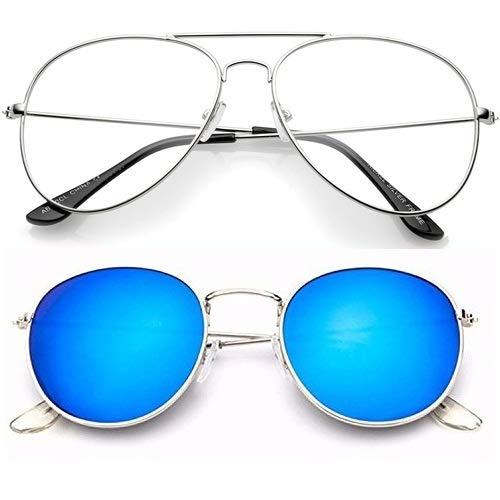 f388a99a3d1 Sheomy Sunglass and Eyeglass Panto Pento Shape and Round Frames For Unisex  (55