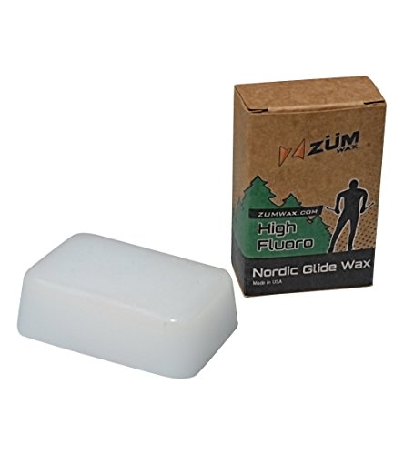 ZUMWax Nordic Wax - Base Prep/Clean/Travel/Store - 50 Gram - Excellent Storage & Travel Wax for Cross-Country Skis