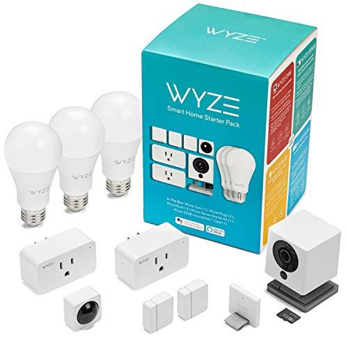 Wyze Smart Home Starter Pack Includes: Wyze Cam, Wyze Sense Starter Kit, Wyze Bulbs, Wyze Plugs, and Wyze SD Card