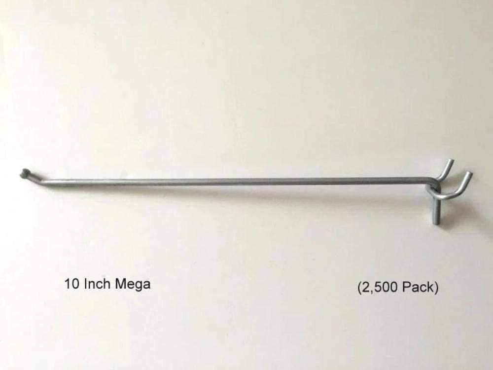 "Slatwall 2 Inch All Metal Peg Hooks 1//8 to 1//4/"" Pegboard 500 PACK Garage kit"