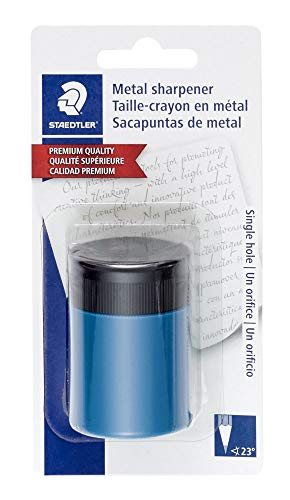 STAEDTLER pencil sharpener, premium quality sharpener with screw-on lid, prevents accidental openings, compact size for pencil case and work-station, 511 63BK, 5 Pack by STAEDTLER (Image #1)
