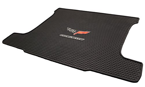 Corvette Crossed Flags (2005-2013 Corvette Coupe All Weather Rubber Trunk Cargo Mat - C6 Crossed Flags)