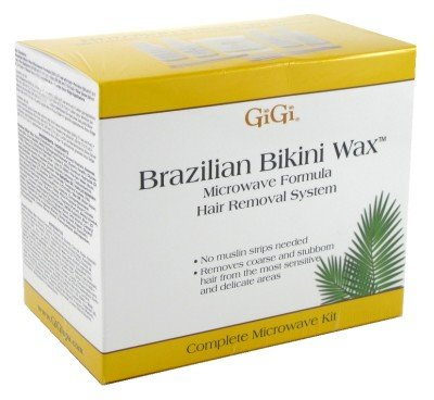 GiGi Brazilian Bikini Wax Microwave Formula Kit - Hair Removal System (Bikini Microwave)