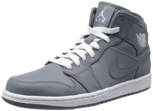 Nike Air Jordan 1 Retro High OG, Scarpe da Ginnastica Uomo Cool Grey/White/Cool Grey