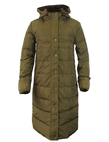 CHERRY CHICK Women's Long Thick Down Coat (XXL/Slim Fit, Army Green)