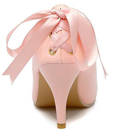 Spillo Di Corte Rosa Punta Donne Bowknot Sexy In A Delle Aisun Alto Taglio Basso Punta Slittamento Scarpe Tacco wg7pAAxqZ