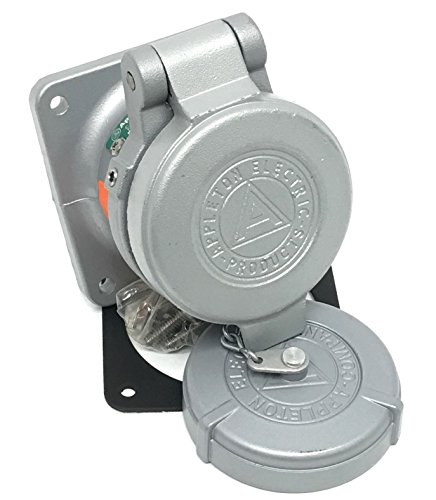 Appleton ADR3034 30 Amp Powertite Pin and Sleeve Receptacle 3 Wire 4 Pole Style 2 by Appleton