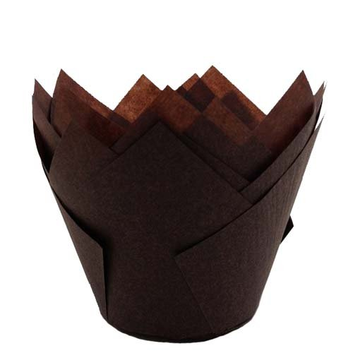 Disposable Brown Tulip Baking Cup (2000, 1-3/4'' to 3'' High)