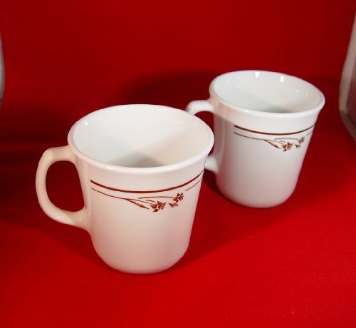 (Corelle Corning Ware Melody Pattern Coffee Mugs Cups Set of 2 )