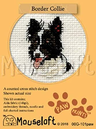 various dogs to choose from Mouseloft /' Paw Prints /' counted cross stitch kit