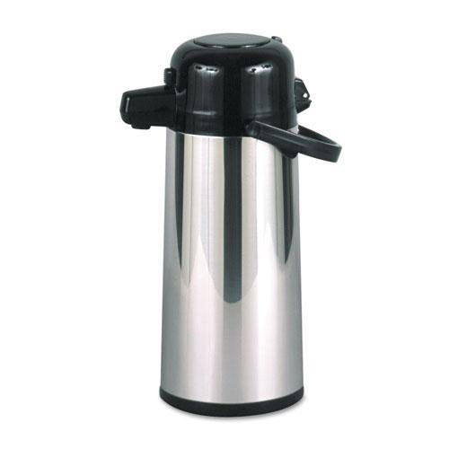 HORMEL PAE22B Commercial Grade 2.2L Airpot, w/Push-Button Pump, Stainless Steel