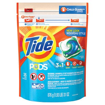 Tide PGC 93126CT 00037000892588 Pods, Laundry Detergent, Ocean Mist (Pack of 140) by Tide