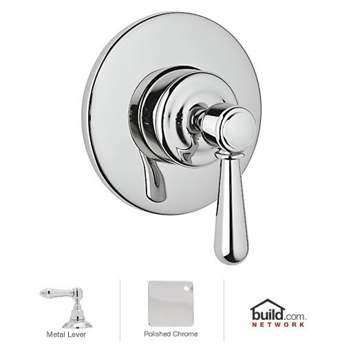 Polished Chrome 3-Direction Diverter Trim Only with Metal Lever Handle Rohl A3770LMAPCTO Verona 4-Port