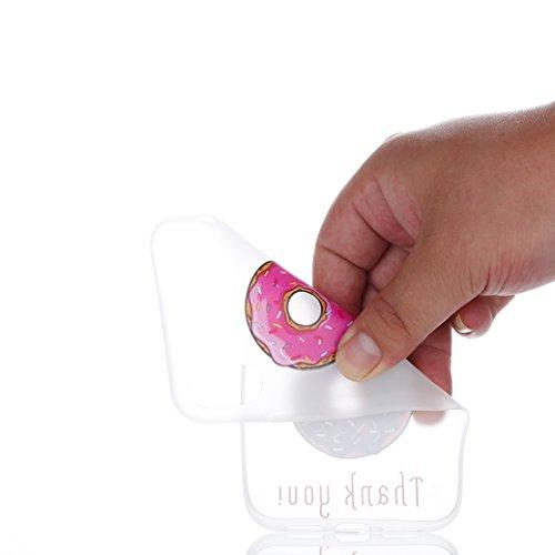 AllDo Funda para iPhone X Carcasa de Silicona Luminoso Brillar en Oscuridad Caja Caucho Translúcido Carcasa Liso Peso Ligero Funda Diseño de Patrones Impresos Caja Suave Flexible Carcasa Resistente a  Doughnuts Deliciosos