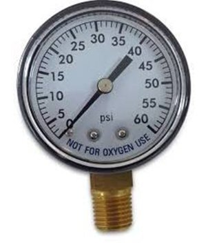 - Super Pro 80960BU Pool Spa Filter Water Pressure Gauge, 0-60 PSI, Bottom Mount, 1/4-Inch Pipe Thread